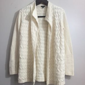 Talbots open front Sweater. Size Small